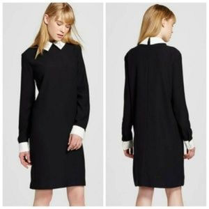 Victoria Beckham Rabbit Collar Dress Black Small